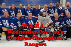 Buds Rangers Wed Over 40  2014-15